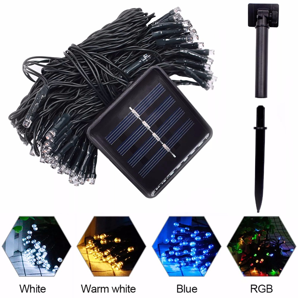 LED Solar String Fairy Lights Premium Quality Waterproof Solar Power 7 Colors For Christmas Holiday Party Garden Decoration