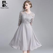 S-XXL, дизайнерское женское платье, ажурное, цветочный узор, вышивка, кружевной верх, серое платье, модное, винтажное, вечерние, для мероприятий, длинное платье