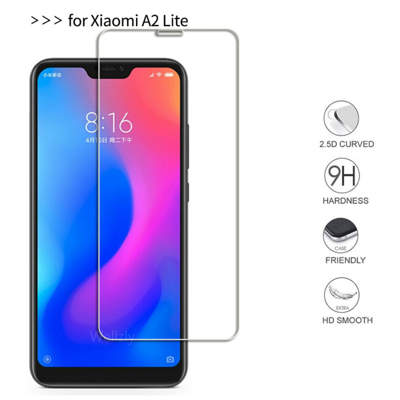 9H Tempered Glass for <font><b>Xiaomi</b></font> <font><b>Mi</b></font> A2 Lite Screen Protector For <font><b>Xiaomi</b></font> <font><b>Mi</b></font> A2 Lite <font><b>A2Lite</b></font> <font><b>5.84</b></font> Global Version 2.5D Protective Film image