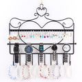 Wrought Iron Wall Mounted Frame Earring Necklace Holder Ear Stud Jewelry Accessories Storage Rack Bracelet Stand Organizer Rack