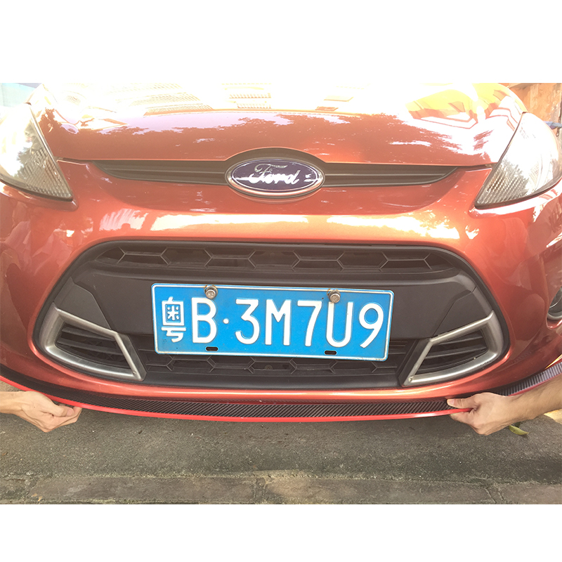 Free shipping For ford focus 2 fiesta ecosport kuga Universal Exterior Front Bumper Lip side skirt Kit