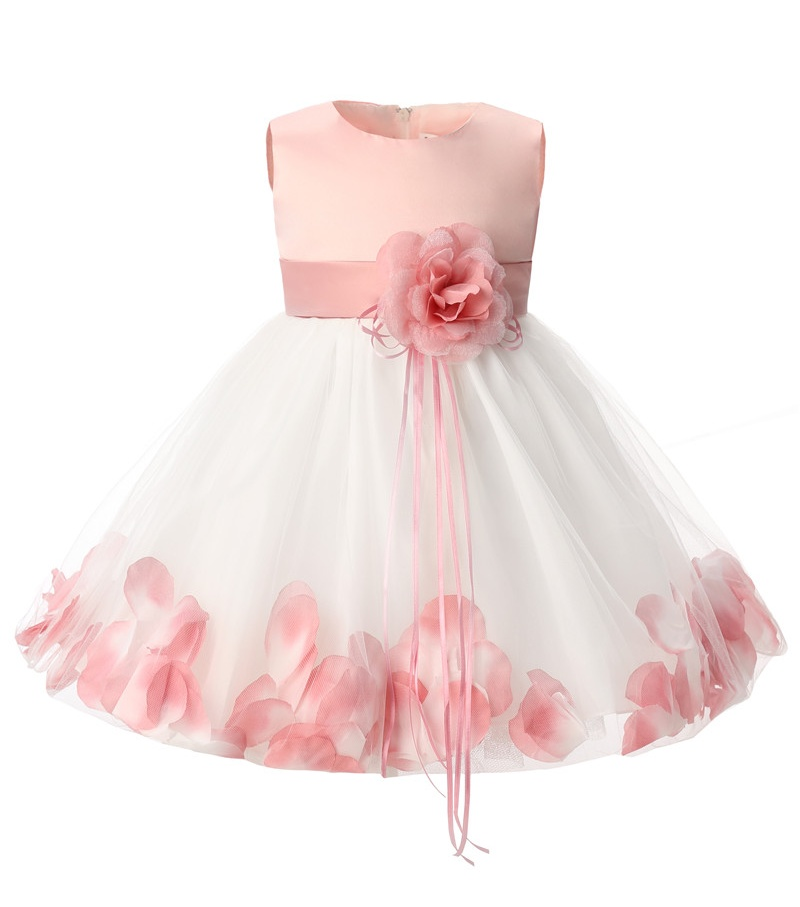 Newborn Baby Girl 1 Year Birthday Dress Petals Tulle Toddler Girl Christening Dress Infant Princess Party Dresses For Girls 2T ...