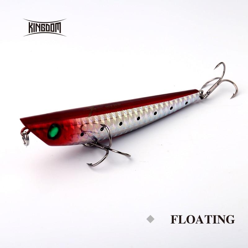 Kingdom fishing lure 95mm 10g/120mm 17g pencil hard bait wobbler six colors available model 5327