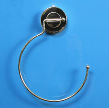 Wall Mount Towel Ring Bathroom Kitchen Hand Rack Waterproof Bath Holder White Bar Suction Cup