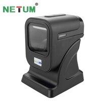 POS высокое качество 2D Всенаправленный сканер штрихкодов Настольный планшетный считыватель штрих кода для розничного магазина/Supermarke NT 6100