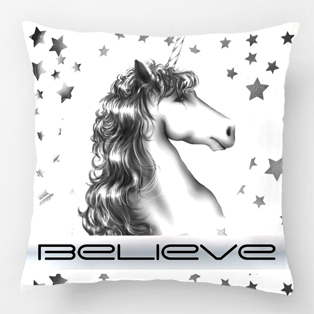 Believe In Unicorns Pillow Wedding Decorative Cushion Cover Pillow Case Customize Gift By Lvsure For Car Sofa Seat Pillowcase