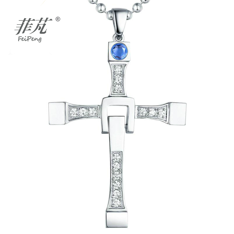 CZ Gifts Fashion Collier Charms Furious Cross Necklace Jewelry Pendants Women