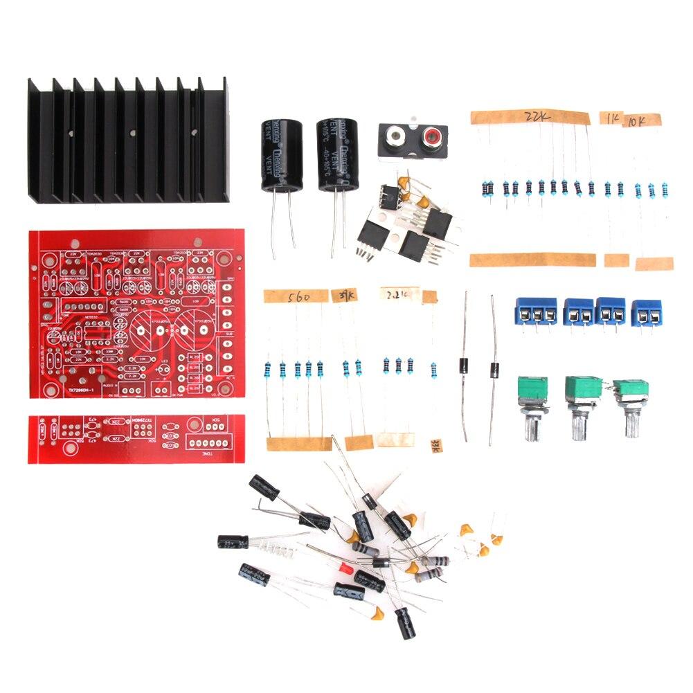 Tda2050a Tda2030a Ne5532 Three Channel 21 Subwoofer Audio 32w Hi Fi Amplifier With Tda2050 Circuit Diagram Alloyseed Diy Led Electric Unit Tool 12v 2x18w Tda2030 Power Board Amp Dual Tracks