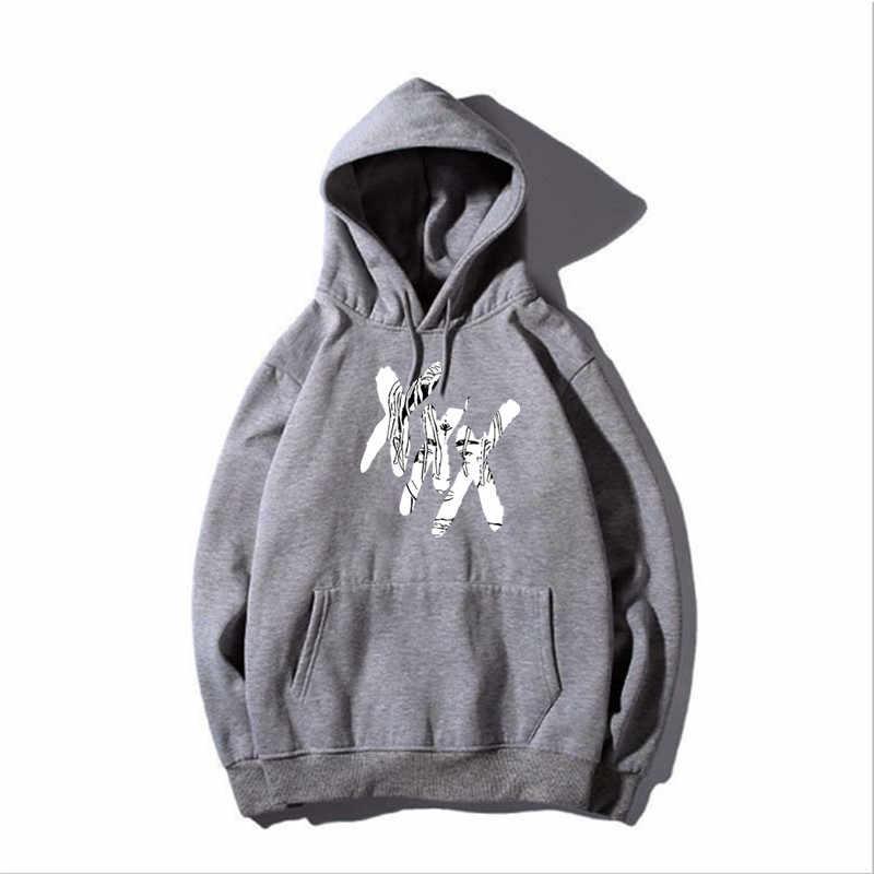 2018 Xxxtentacion Hoodies sad men Sweatshirts rap rapper hip hop Hooded  Pullover sweatershirts male Women 4daec507f29