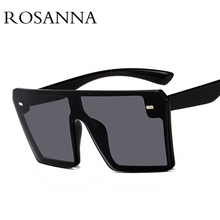 ROSANNA Big Square Sunglasses Women Brand Designer Luxury Oversized Gradient Sun Glasses Men Classic Shades UV400 Rimless Oculos поднос декоративный rosanna glasses