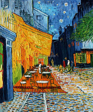Cafe Terrace At Night by Vincent Van Gogh Handpainted