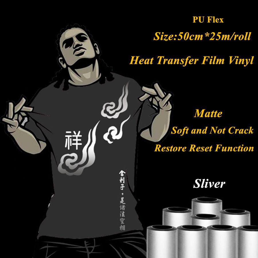 sliver heat transfer vinyl