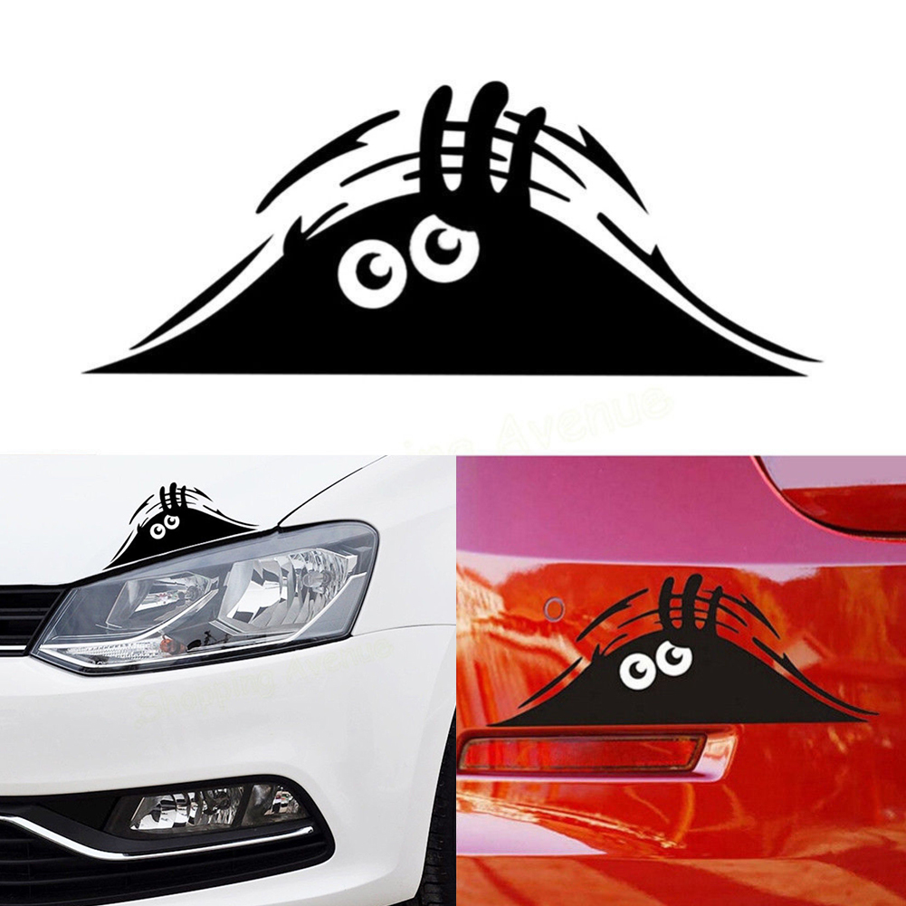 Waterproof Self-adhesive Removable Car Sticker Scratch Cover Decal Auto Decoration Funny Peeking Monster 3D Big Eyes
