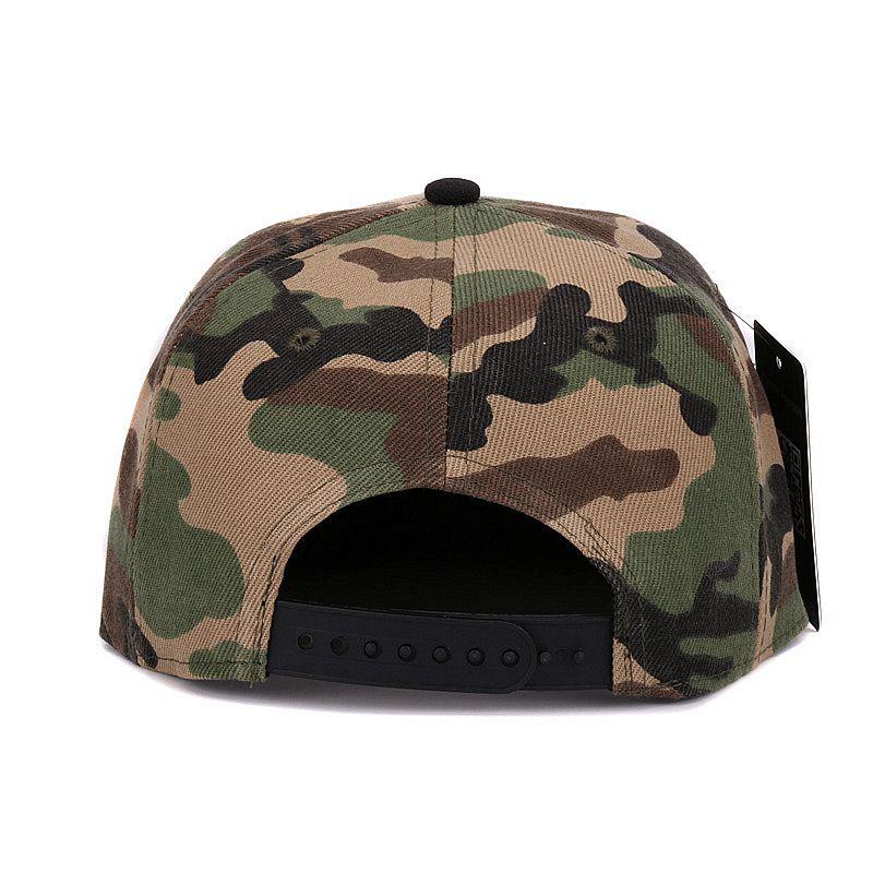 Camouflage snapback polyester cap blank flat camo baseball cap  70837ecf3851