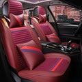 3D de Moda de Costura, Cubierta de Asiento de Coche Completamente Cerrado Fibroso Amortiguador Del Coche Para El Audi A1 A3 C6 C7 B6 B5 B7 B8 A4 A6 A7 A8 A8 L Q5 Q7 Q3