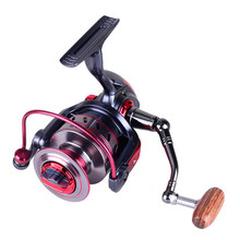 New Spinning Reel Cost-XY Mirror Blue With Red Fish Linear Round Series 11+1Bearing Carp Fishing Accessories For Sea Fishing
