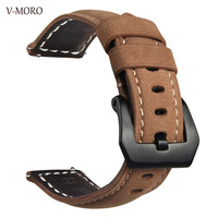 Gear Sport Bands V MORO 2018 Newest 20MM Genuine Leather Strap For Samsung Gear Sport Gear