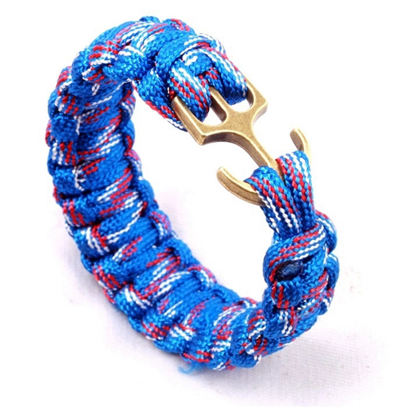 YZ Camping Hiking Emergency Tactical Survival Braided Pulseras Rescue Umbrella Rope Outdoor Bracelets Parachute Cord Paracord outdoor emergency surviving quick release parachute hand rope cord bracelet w whistle blue