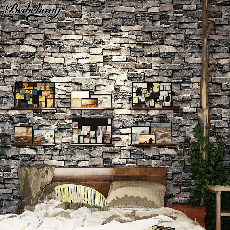 beibehang Retro do the old simulation brick pattern PVC wallpaper bedroom study room living room brick wall background wallpaper the little old lady in saint tropez