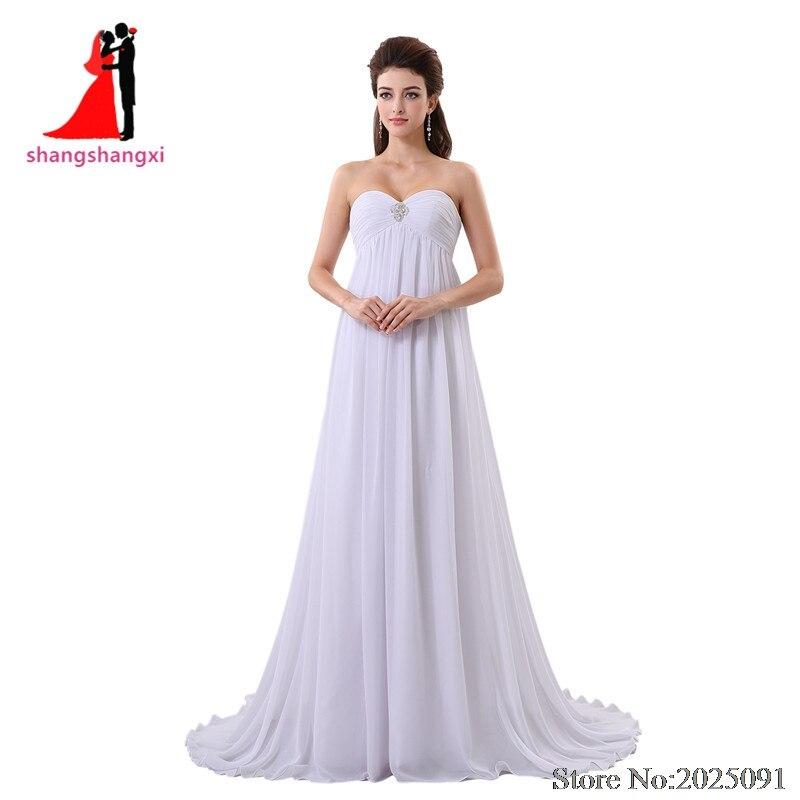 2017 New Off Shoulder White Beach font b Wedding b font Dresses 2017 Chiffon Plus Size