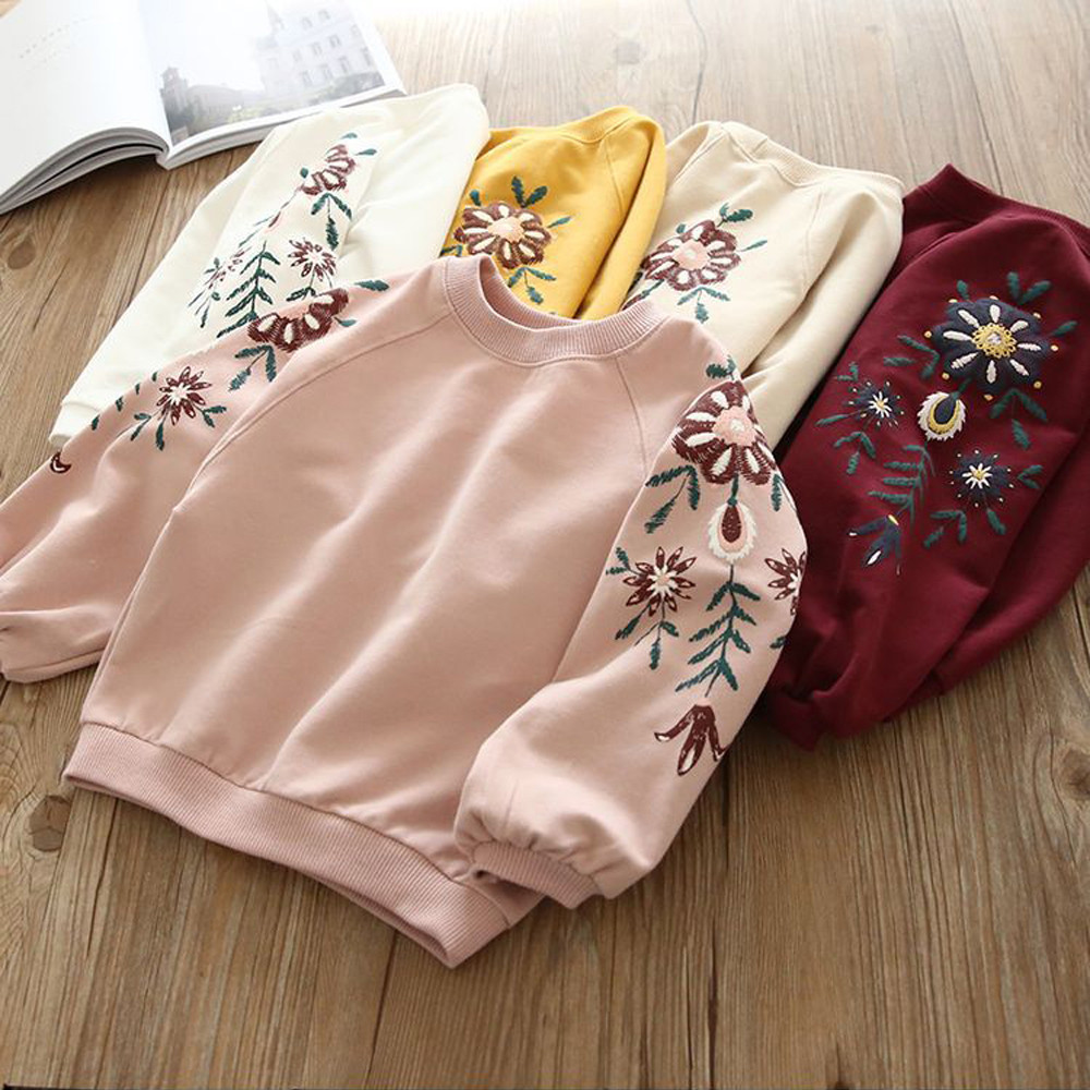Toddler Kids Baby Girl Floral Pullover Sweatshirt Tops Hoodie Clothes Outfits