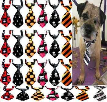 50 ชิ้น/ล็อตสุนัขผูกฮาโลวีนสัตว์เลี้ยงแมว bowtie เนคไทอุปกรณ์เสริมสุนัขวันหยุดผลิตภัณฑ์กรูมมิ่งอุปกรณ์ Y519