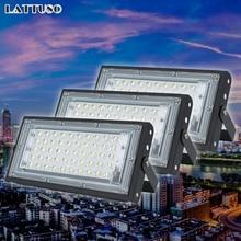 цены Led Flood Light 220V 240V FloodLight 50W LED street Lamp Waterproof Landscape Lighting IP65 Led Spotlight Outdoor Lighting