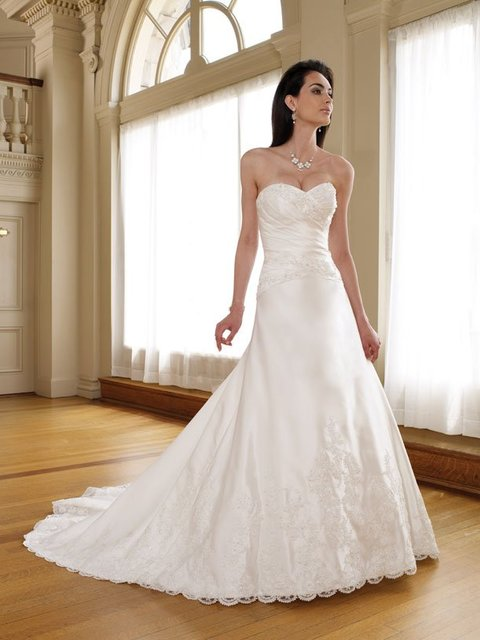 wholesale White wedding dresses 2012 A-Line free shipping wedding gown
