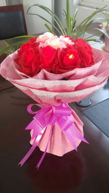 Valentine gift battery rose flower branch light in nice gift valentine gift battery rose flower branch light in nice gift package arrangement 19 pcs led rose negle Image collections