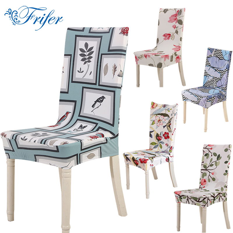 Dining Chair Covers Spandex Universal Removable Stretch Elastic Slipcovers Polyester Chair Cover Office Home Furniture Protector