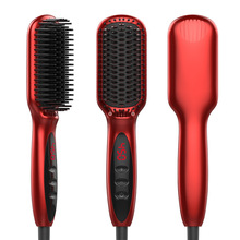 Hair-Straightener-Brush Combs Any-Hair Electric for Types Ergonomic GMR159 Quick-Heating