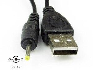 Image 3 - Cable 80cm Puerto USB a DC 2.0 2.5 3.5 4.0 5.5mm 5V DC Barrel Jack Cable de alimentación Conector Negro para lámpara LED u otro equipo
