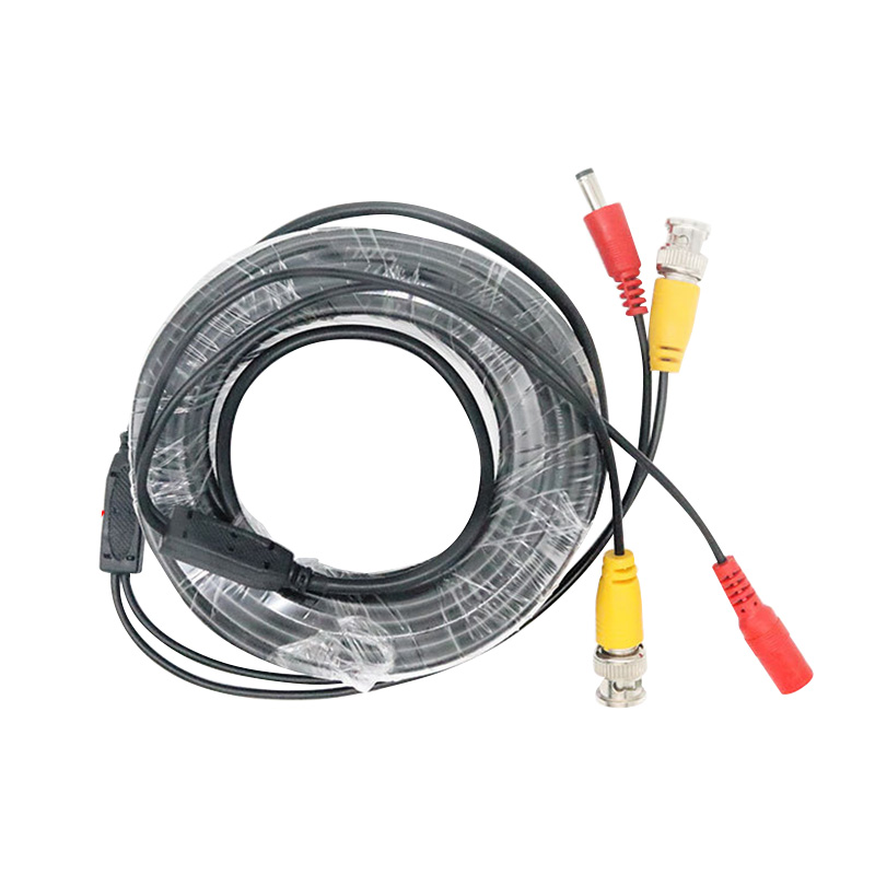BNC DC Plug Cable 5M/10M/15M/20M/30M/40M/50M CCTV Video Output Cable For AHD TVI CVI Analog System DVR Kit Accessories Hot Sale