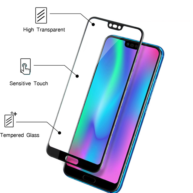 Image 4 - Tempered Glass For Huawei Honor 10 Protective Glass On honor 10 10i COL L29 honor10 honer 10 5.84'' Screen Protector Safety Film-in Phone Screen Protectors from Cellphones & Telecommunications