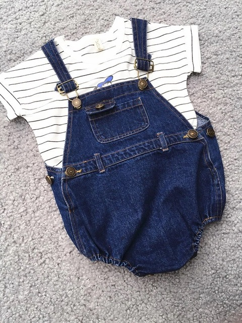a21a96d0a ins  new arrival 2016 baby kids overall jeans boys girls summer ...