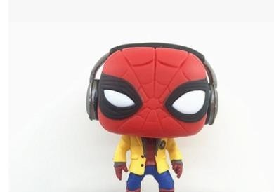 10CM Spider-Man Action Figure Spiderman Handstand Collection HeadPhones Toy Gift