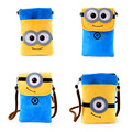 Small Plush Bag 19.5*12.5*9cm Lovely Minion Small Plush Backpack for Phone Soft Plush Doll Birthday Gift Christmas Gift
