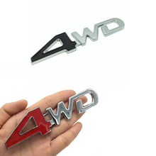 Autocollant de voiture style 3D Chrome métal 4WD emblème 4X4 Badge décalcomanie pour Suzuki Grand Vitara Swift SX4 Jimny Honda CRV Accord Civic(China)
