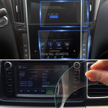 H9 анти-отпечатков пальцев gps навигации Экран протекторы Стикеры автомобильный DVD, защитная пленка, закаленное Стекло для Infiniti Q50L 2015-2018