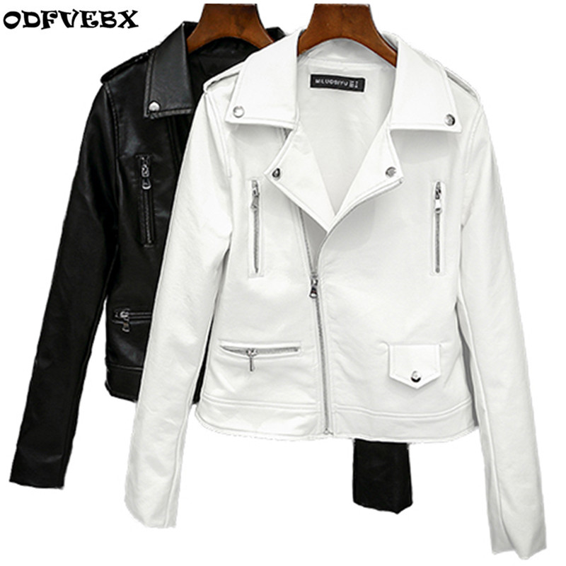 Spring Autumn new loose small leather jacket women short paragraph Korean pu leather jacket large size slim jacket tide ODFVEBX