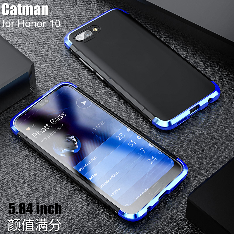 honor 10 case which based on 5.84inch funda luxury aviation aluminum metal+ Matte PC back cover case for huawei honor 10