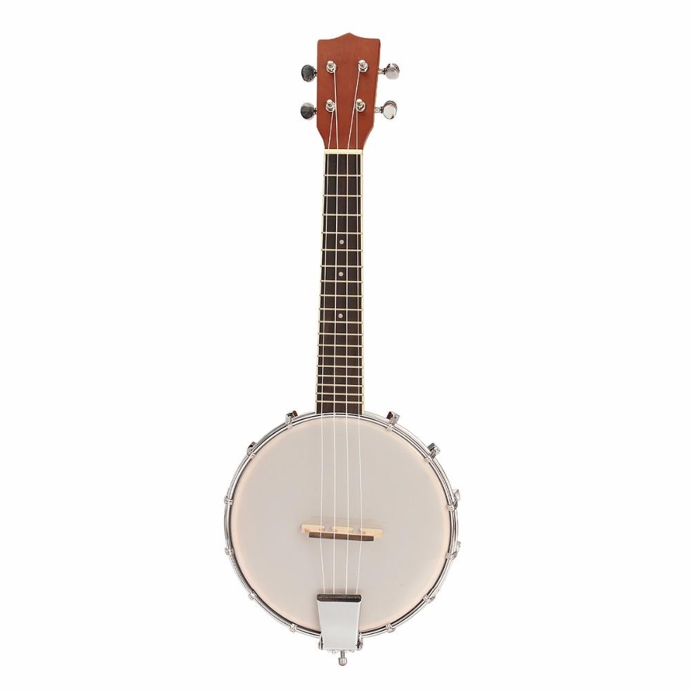 23 Inch 4 String Sapele Wood Banjo Banjo Ukelele Concert Size