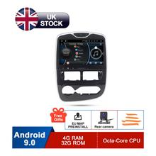 10.1 HD Android 9 Car GPS Stereo For Renault Clio 2013 2014 2015 2016 2017 2018 Auto Radio FM RDS WiFi Audio Navigation No DVD 4gb android 8 0 car dvd for mitsubishi outlander asx lancer 2012 2013 2014 2015 2016 auto radio fm gps navigation backup camera
