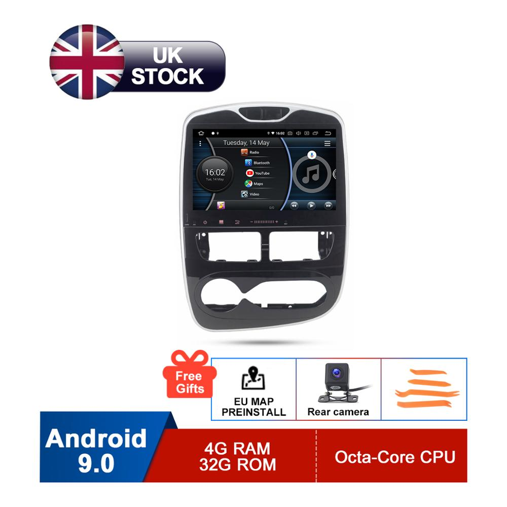 10.1 HD Android 9 Car GPS Stereo For Renault Clio 2013 2014 2015 2016 2017 2018 Auto Radio FM RDS WiFi Audio Navigation No DVD