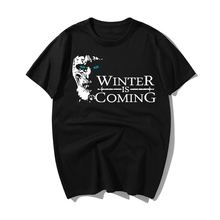 Winter Is Coming Pattern T Shirt Game Of Thrones Stark Cotton Short Sleeve Men T-shirt Casual Men Tshirt 2019 Summer Men Tshirt game over pattern cotton short sleeves t shirt for men white size xxxl