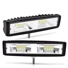цена на Safego 2pcs 48W Led Work Light Bar Spot Beam For Driving Offroad Boat Car Tractor Truck 4x4 SUV ATV 12V 24V Off-Road White 6500K
