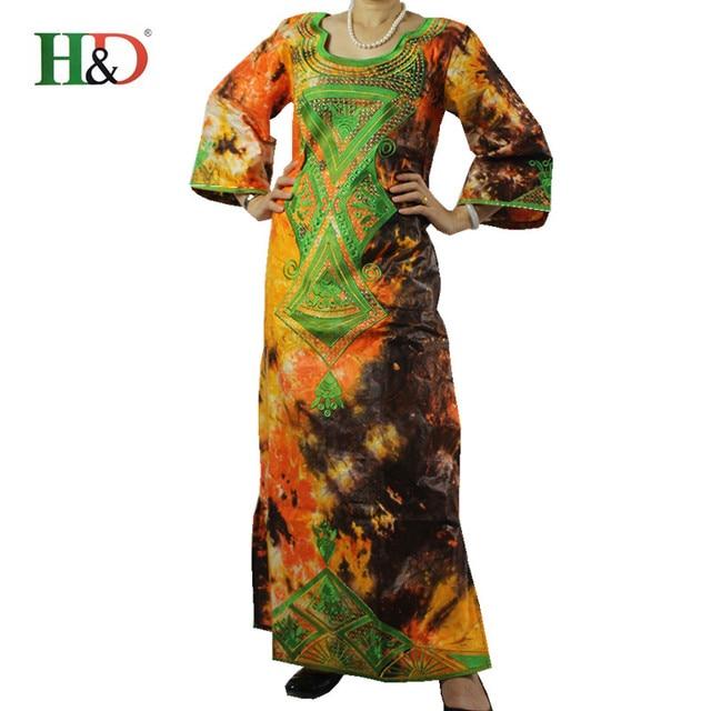 (Бесплатная Доставка) 2017 Новая Африканская мода базен riche базен платье для женщин традиционный хлопок 100% вышивка кристалл украшения