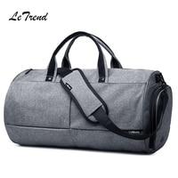 LeTrend New Fashion Gray Travel Bag Handbag Creative Shoulder Bags Men's Handbags Multifunction Short Trip Package
