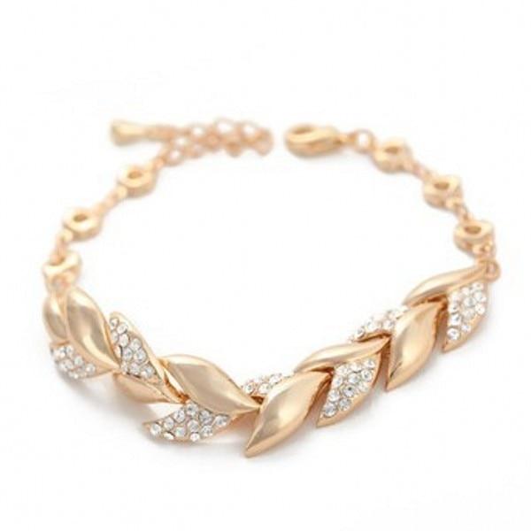 17ccb5933 Sex Woman Girl Fashion Wheat Rose Gold Bracelet Vacuum Titanium Bangle Hand  Chain Shinning Bracelet Free Shipping