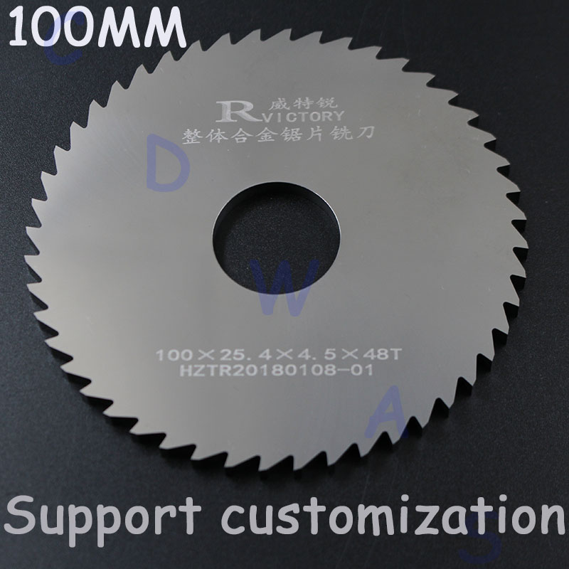 2pcs 100mm Diameter circular saw blade Solid Tungsten Carbide Steel cutting sheet Milling Cutter 1.9-3.0 new bt50 sca32 90l circular saw blade cnc milling toolholder